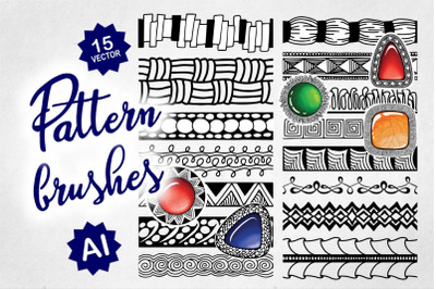 Doodle Pattern Brush Set for AI