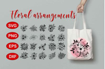Floral Arrangements Pack SVG, PNG files