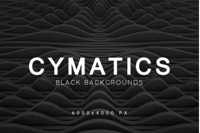 Cymatics Black Backgrounds Vol. 1