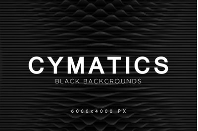 Cymatics Black Backgrounds Vol. 2