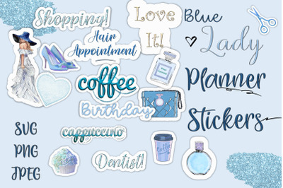 24 Planner Stickers, SVG and PNG CUOK