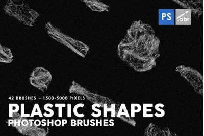 Plastic Shapes Photoshop Stamp Brushes