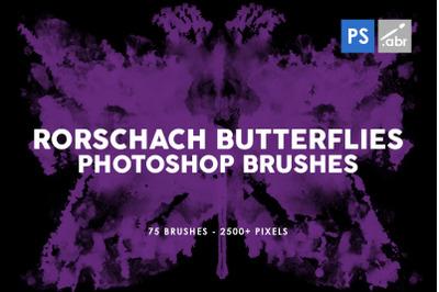 75 Rorschach Butterflies Photoshop Stamp Brushes