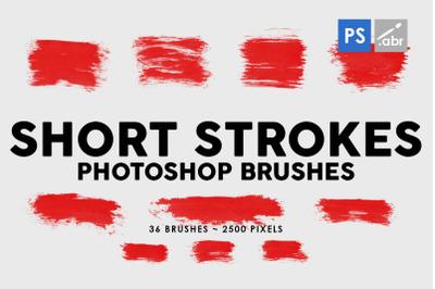 36 Short Ink Strokes Photoshop Stamp Brushes