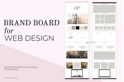 Canva Brand Board for Website