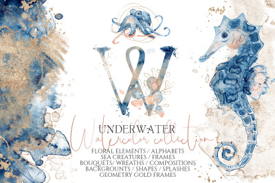 Underwater Watercolor Collection
