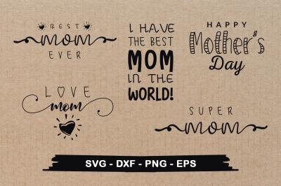 Mother's Day SVG Design Bundle Mom's SVG