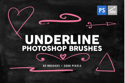 45 Underline Photoshop Stamp Brushes Vol. 2