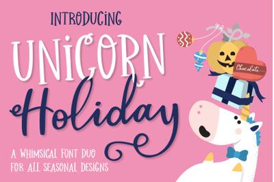 Unicorn Holiday Font Duo