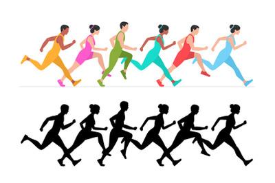 Jogging people + pattern