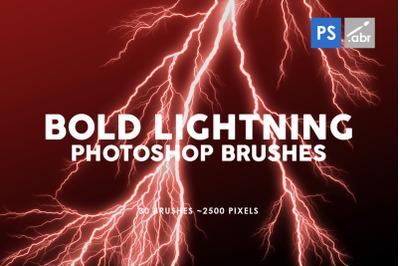 Bold Lightning Photoshop Brushes