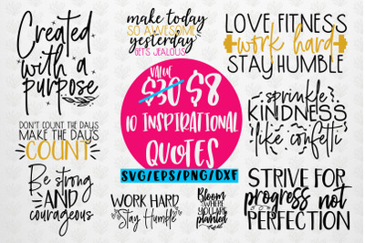 Inspirational Quote Bundle SVG EPS DXF PNG