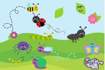 Cute Bugs Svg, Ladybug Svg, Butterfly Svg
