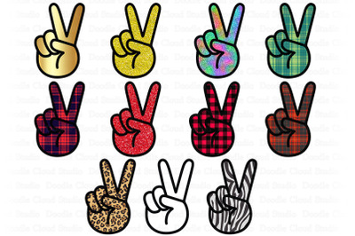 Peace Sign Bundle PNG, Peace Sign Sublimation Design.