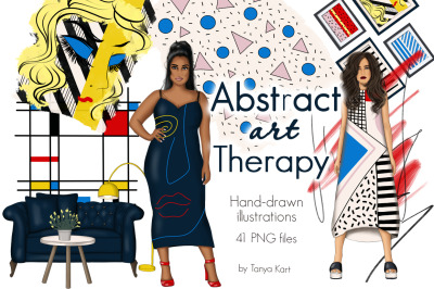 Abstract Art Therapy Clipart
