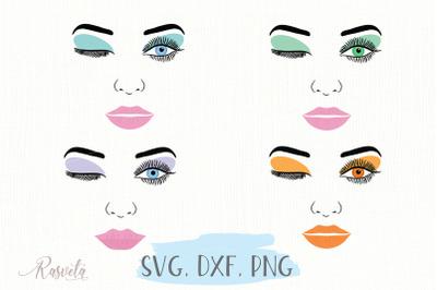Make up svg Female Face/3
