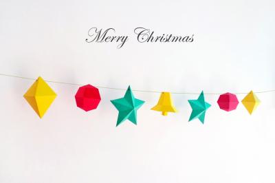 DIY Printable CHRISTMAS BUNTING/FLAGS