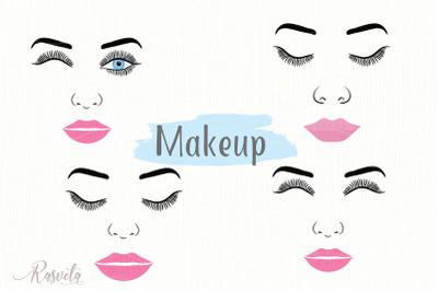 Make up svg Female Face Makeup Eyelashes Eyes Lips /4