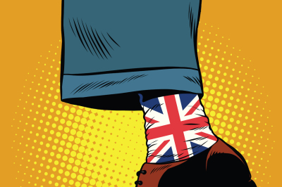 Stylish hipster socks with the British flag