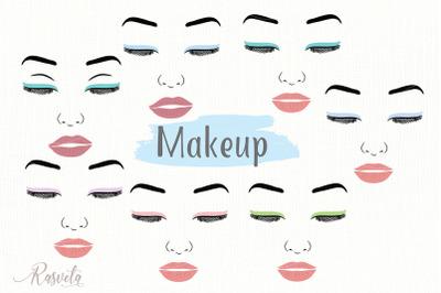 Make up svg Female Face Makeup Eyelashes Eyes Lips /5