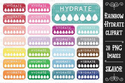 Rainbow Hydrate Clipart