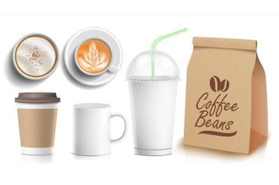 Paper Soda Cup With Straw Mockup