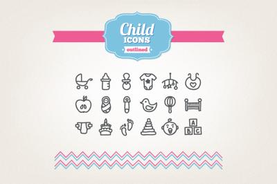 Hand Drawn Child Icons