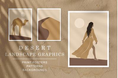 Desert Landscape Graphics