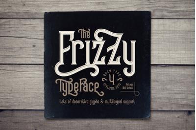 Frizzy vintage font
