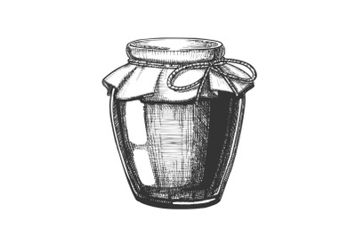 Glass Jar Cherry Jam Mock Up