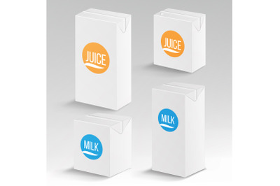 Carton Dairy Packaging Mockup Side View
