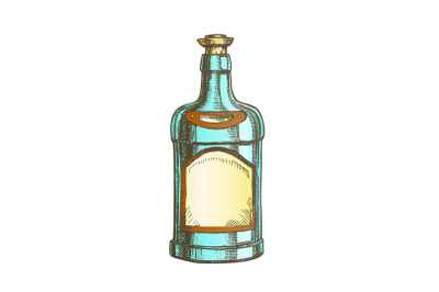 Download Antique Green Glass Wine Bottle With Box Mockup Yellowimages