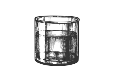 Whisky Tumbler Glass Ice Cubes Mockup