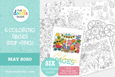 Colouring Pages + BONUS