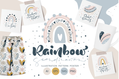 Rainbow scandinavian SVG