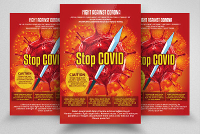 Stop Corona Virus Campaign Flyer/Poster