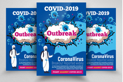 Covid 2019 Outbreak Flyer/Poster
