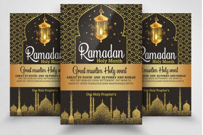 Ramadan Mubarak Flyer Template