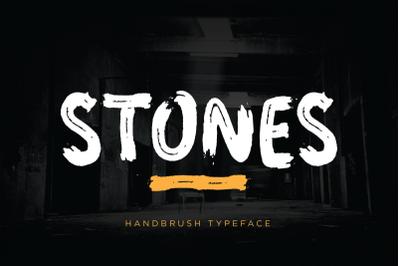 Stones Brush Font
