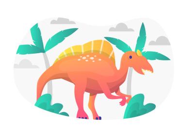 Spinosaurus Flat Illustration