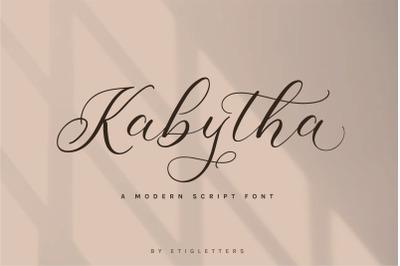 Kabytha | Script Font