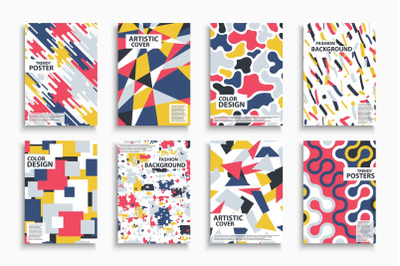 Colorful abstract artistic covers