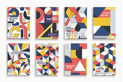 Abstract color retro covers.