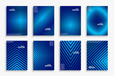 Blue striped digital covers