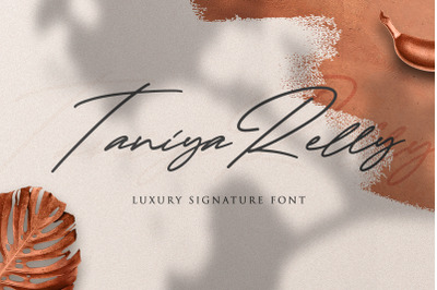 Taniya Relly - Luxury Signature Font