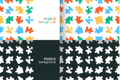 White details of puzzle