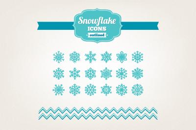 Hand Drawn Snowflake Icons