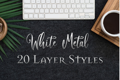 White Metal - 20 Layer Styles - Text Effects for Photoshop