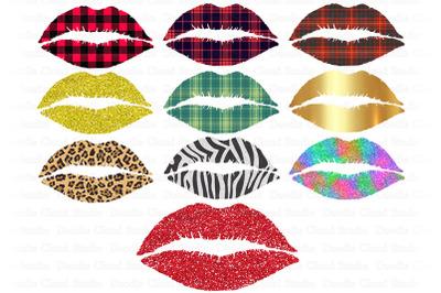Lips PNG Bundle, Kiss Sublimation Design, Lips Clipart,.
