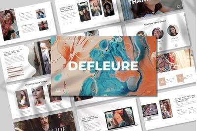 Defleure - Minimalist GoogleSlides Template